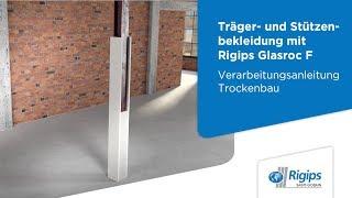 Grundlagen für Träger-/Stützenbekleidung Glasroc F mit Rigips |Verarbeitungsanleitung Trockenbau
