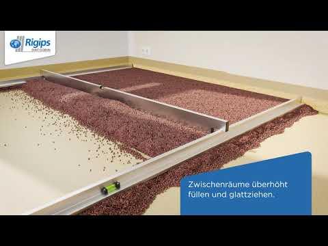 Rigips Anleitung zur Vorbereitung des Bodens, Verlegung Estrichelemente - Rigidur Fußboden-Systeme