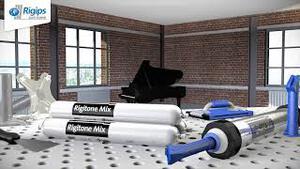 Rigitone Akustikdecken mit Rigitone Mix Spachtelfuge von Rigips